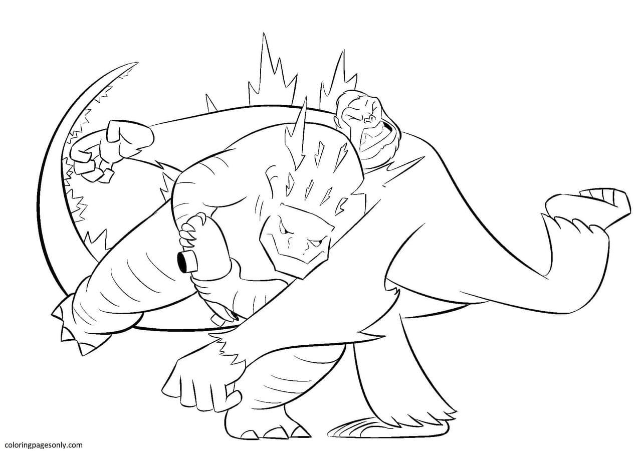 Godzilla vs King Kong 1 Coloring Page