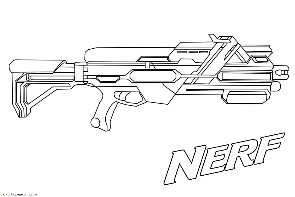 Great Weapon For Single Accurate Shots Coloring Page
