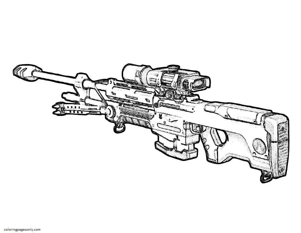 Gun 1 Coloring Page