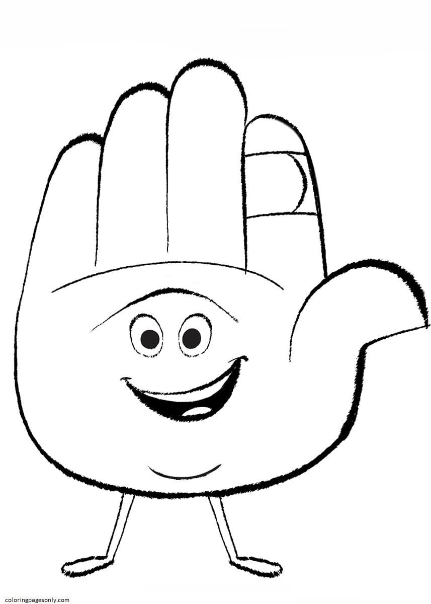 Hi5 Emoji Movie Coloring Page