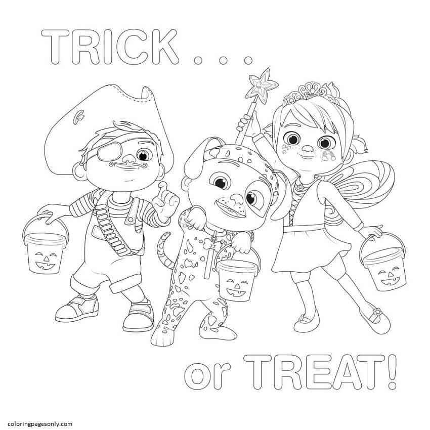 Halloween Cocomelon Coloring Page