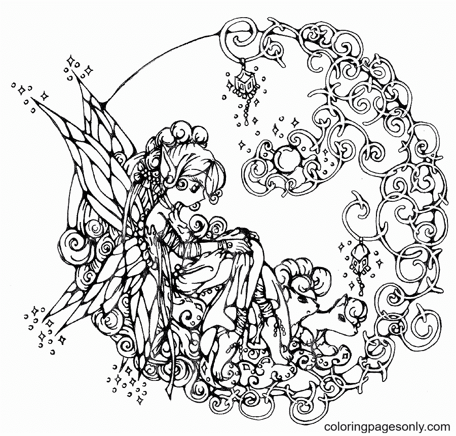 Hard Cute for girls Coloring Page