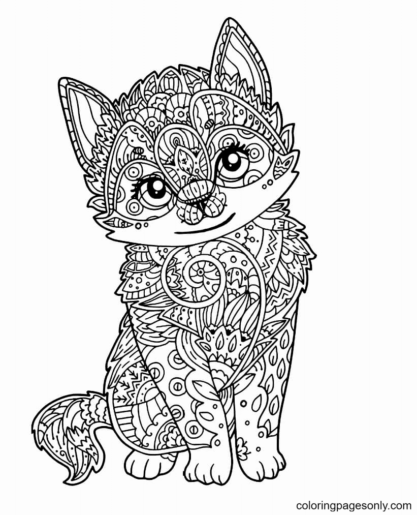 Hard Cute Coloring Page