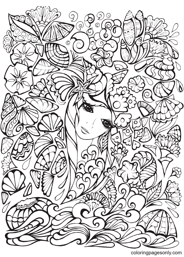 Hard Girl Coloring Page