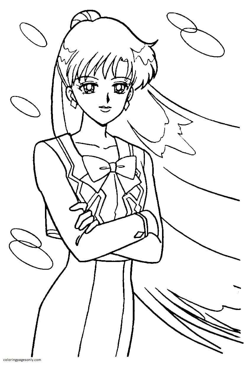 Haruka Tenoh Coloring Page