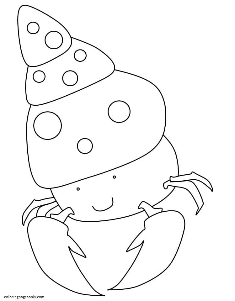 Hermit Crab 1 Coloring Page