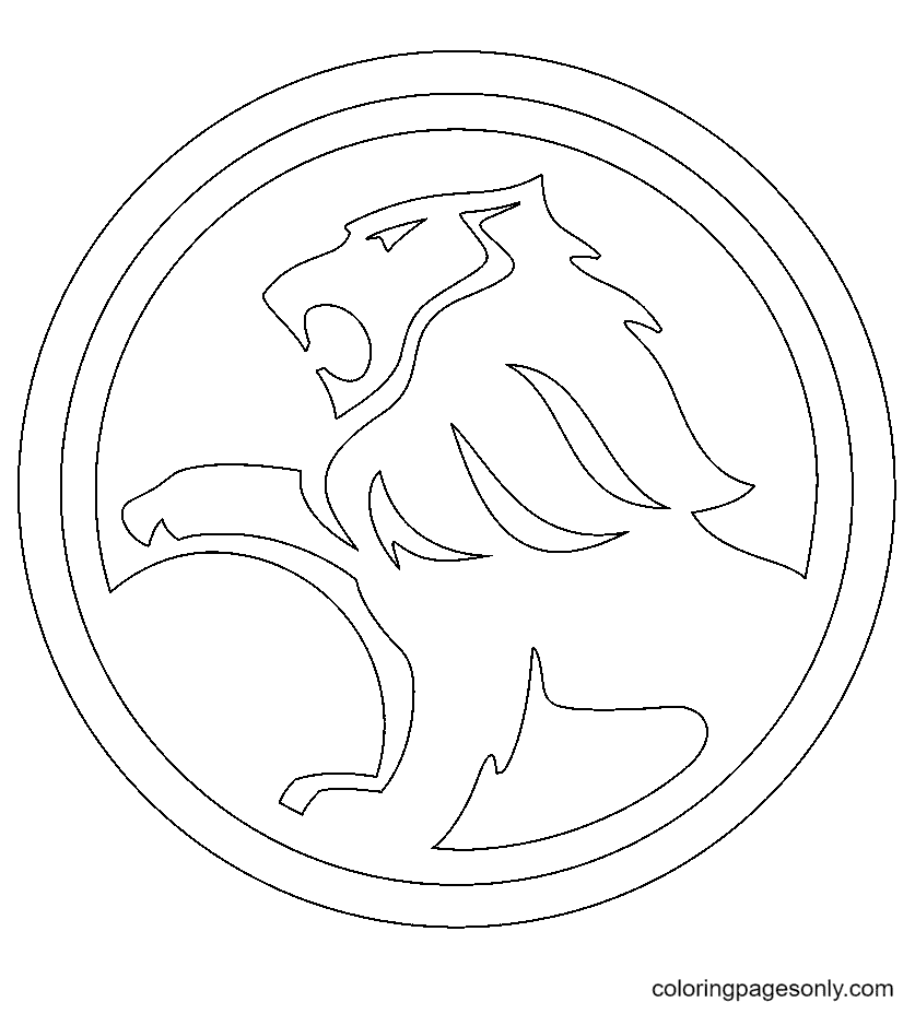 Holden Logo Coloring Page