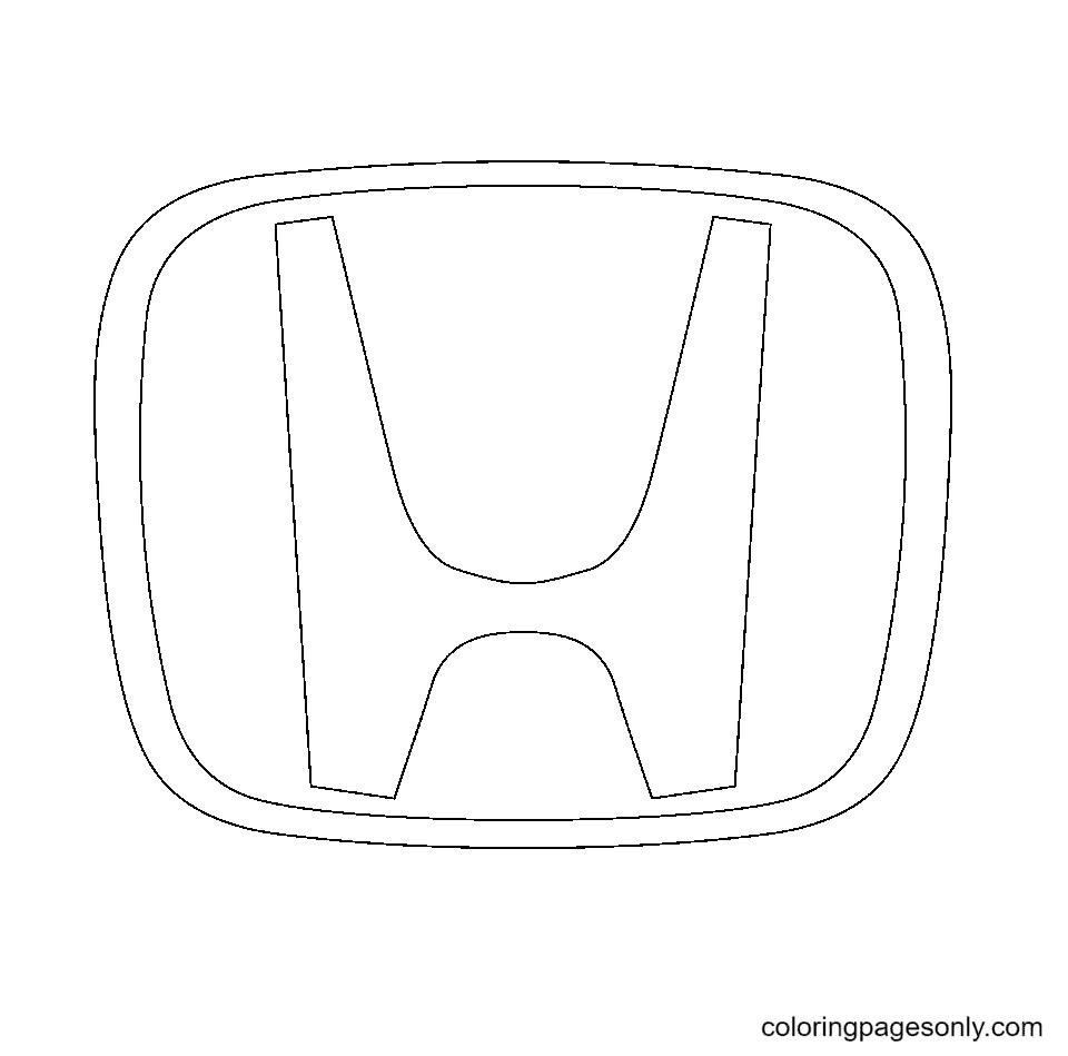 Honda Logo Coloring Page