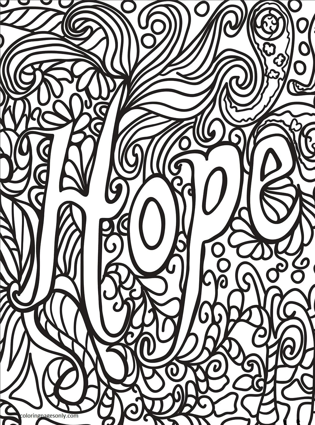 Hope Coloring Page