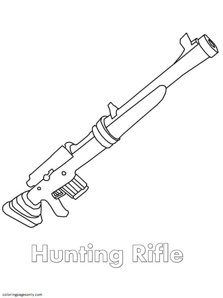 Hunting Rifle Coloring Page