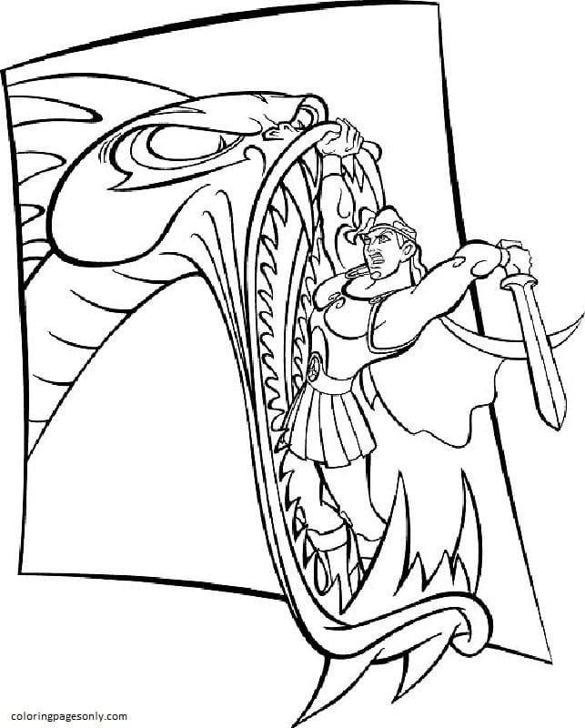 Hydra 1 Coloring Page