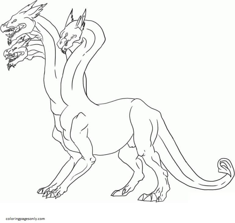 Hydra 3 Coloring Page