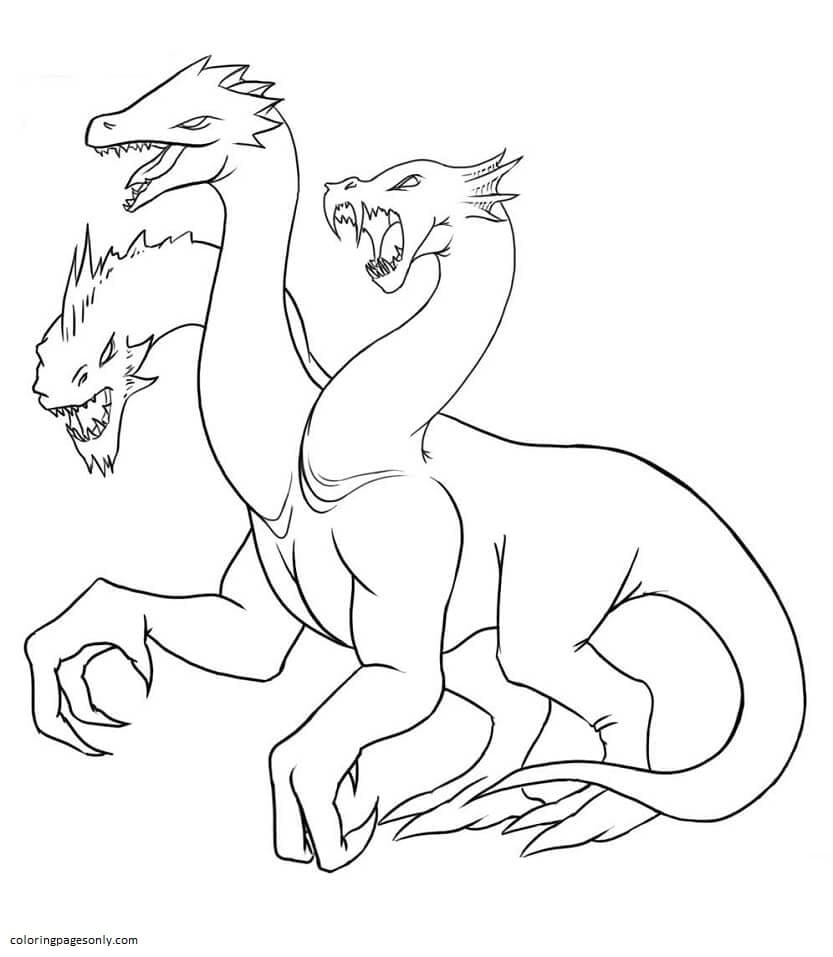 Hydra 4 Coloring Page