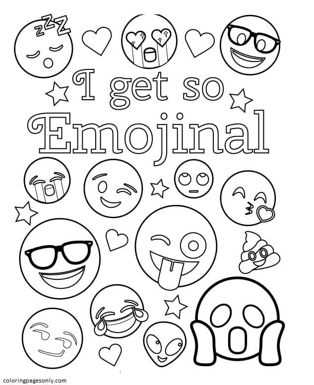 I get so Emojinal Coloring Page