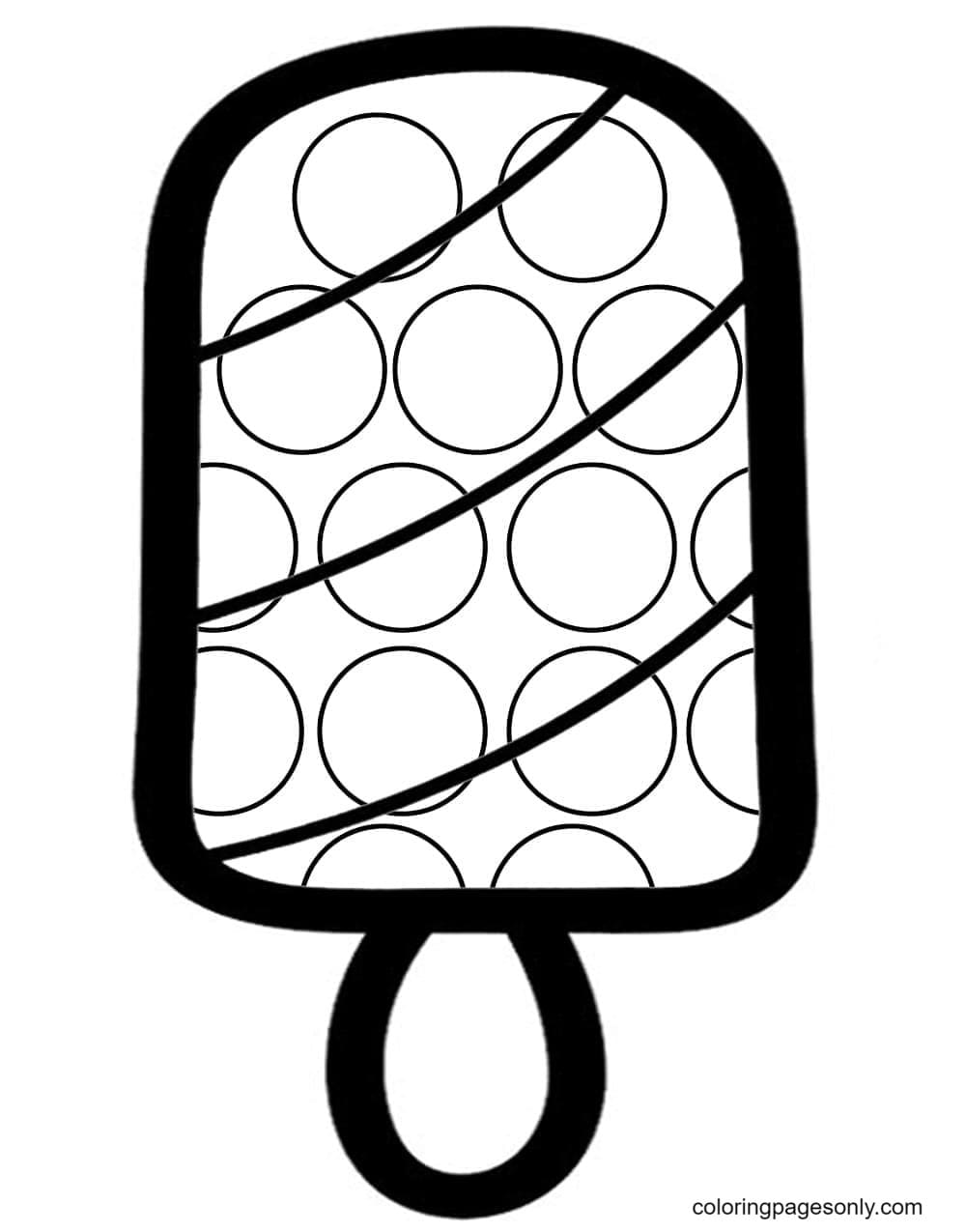 Ice Cream Pop It Coloring Page