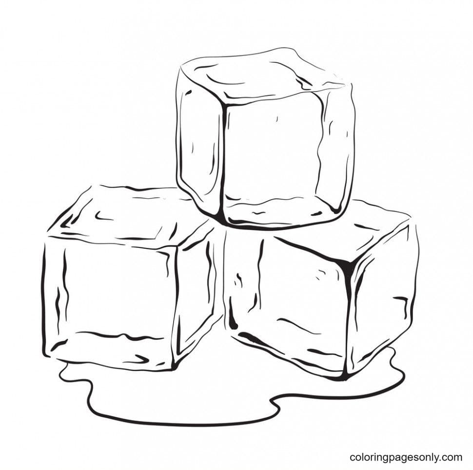 Ice Cube 2 Coloring Page