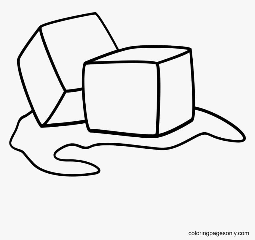 Ice Cube 3 Coloring Page