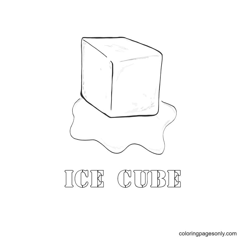 Ice Cube Picture 1 Coloring Page