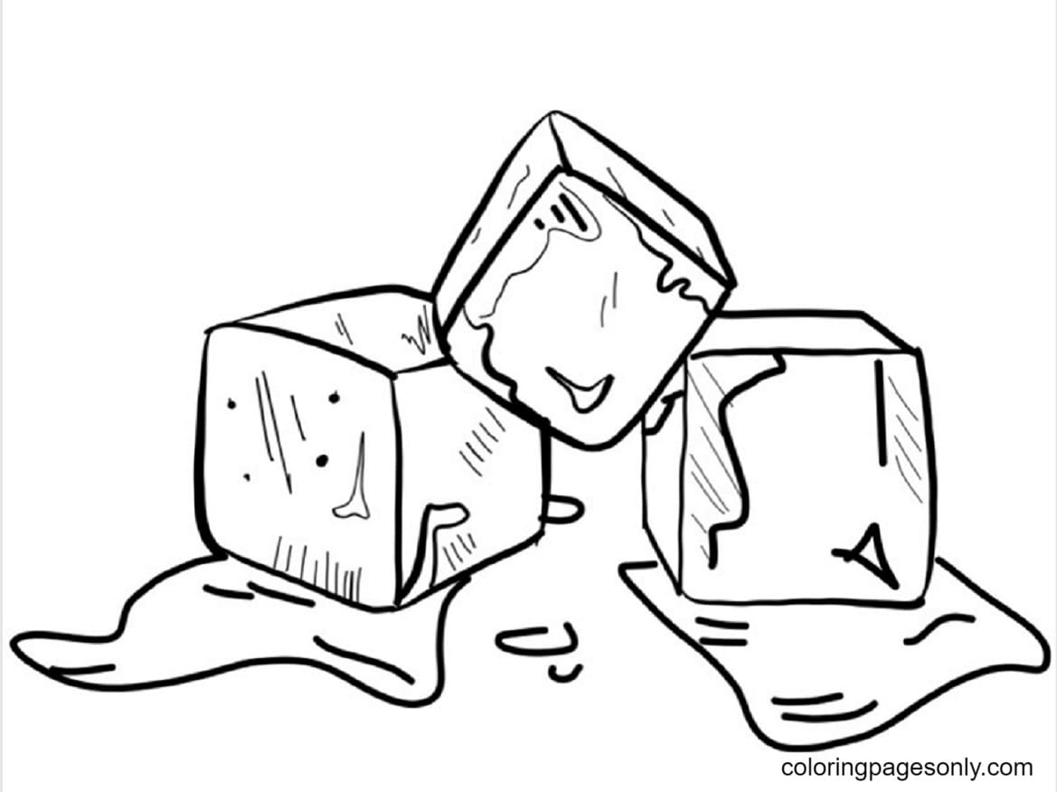 Ice Cube Picture Coloring Page