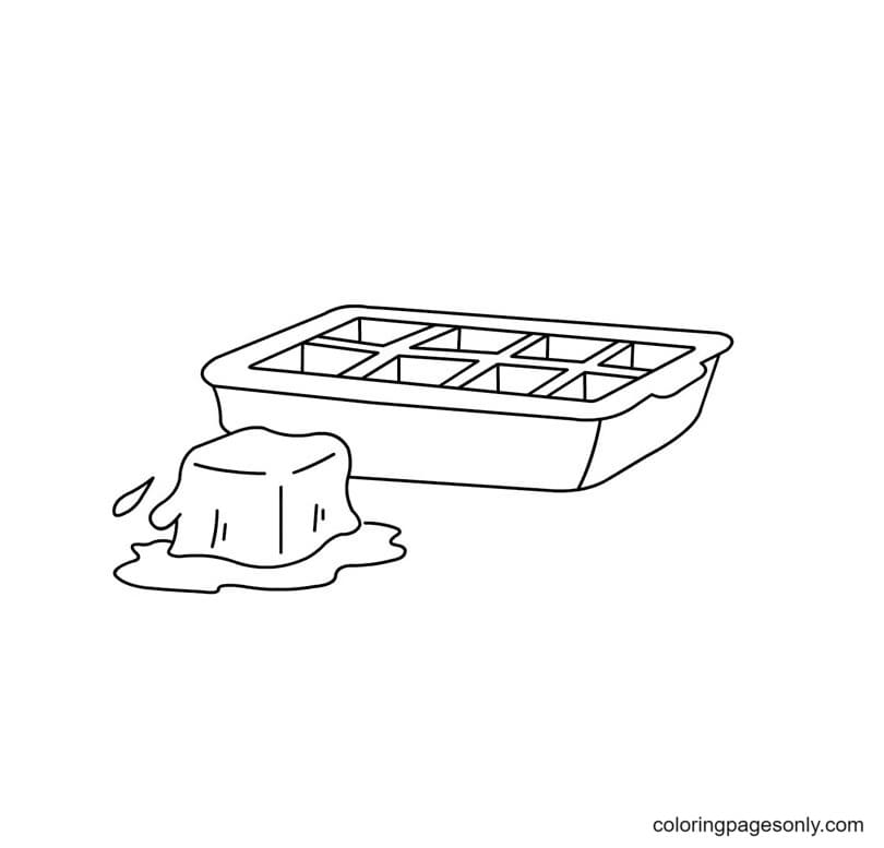 Ice Cube Tray Coloring Page