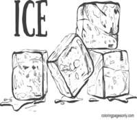 Ice Cube Coloring Pages