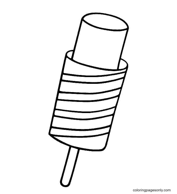 Ice Pop or Popsicle Coloring Page