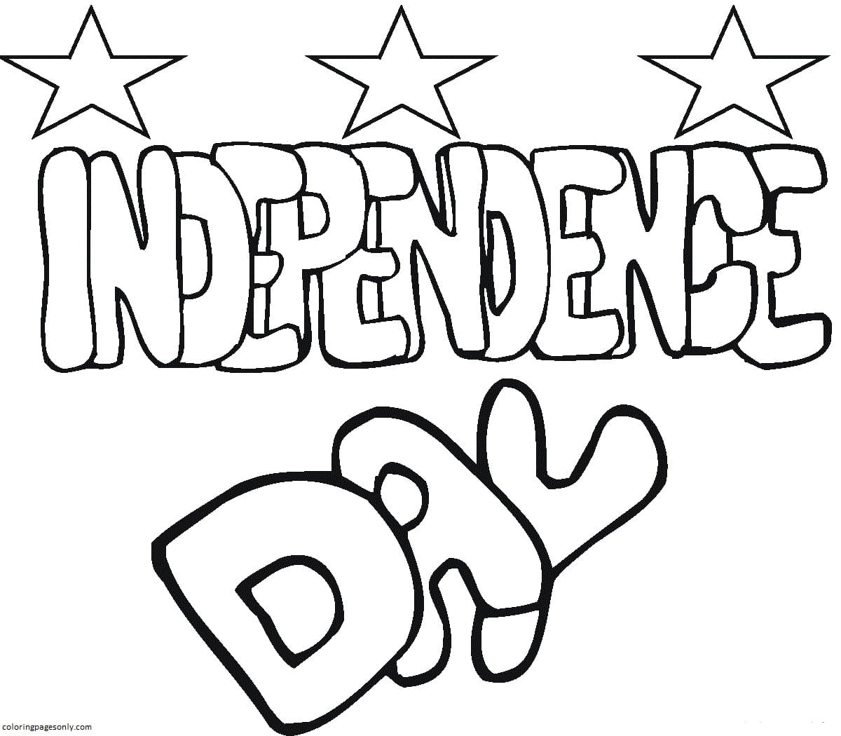 Independence Day 1 Coloring Page