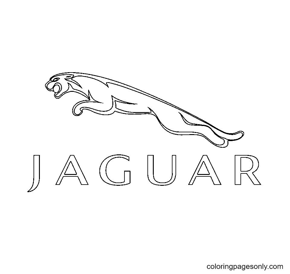 Jaguar Logo Coloring Page