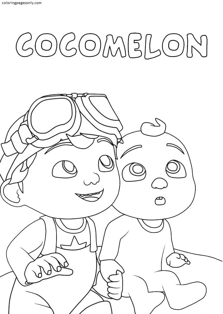 Jay Jay and Tom Tom Coloring Page