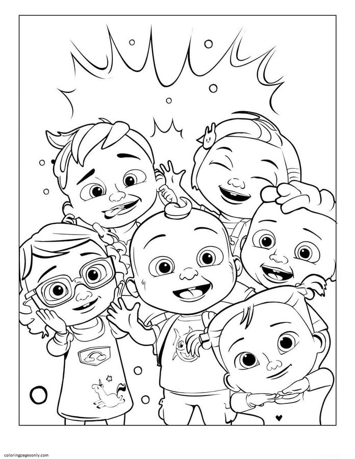 Johnny and Friends 1 Coloring Page