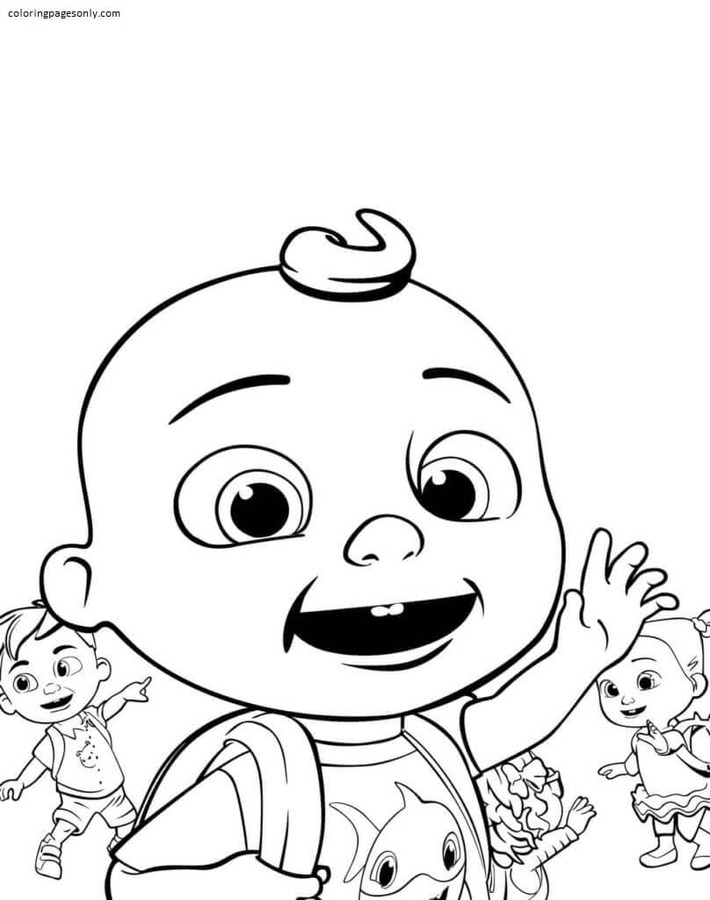 Johnny and Friends Coloring Page