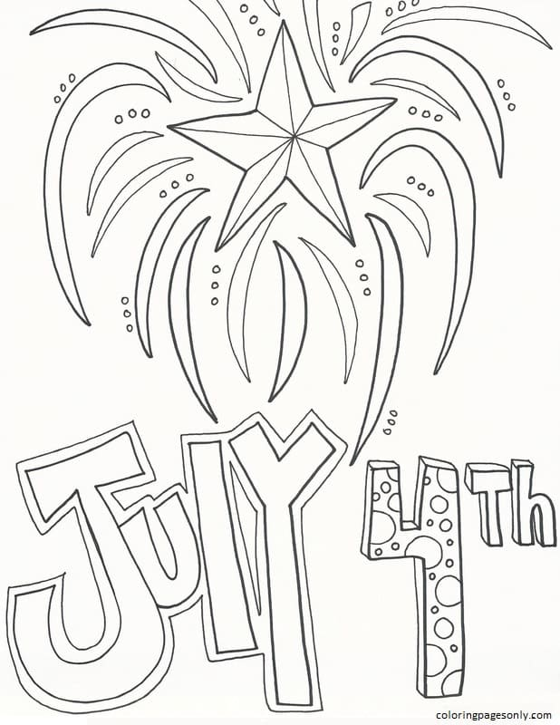 July 4th 1 Coloring Page