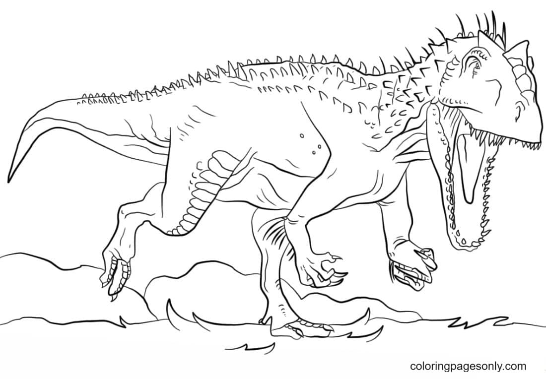 Jurassic Park Indominus Rex Pictures Coloring Page