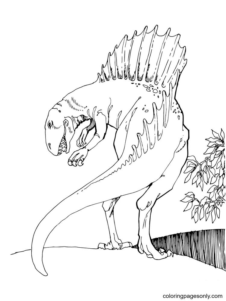 Jurassic Park Spinosaurus Theropod Dinosaur Coloring Page
