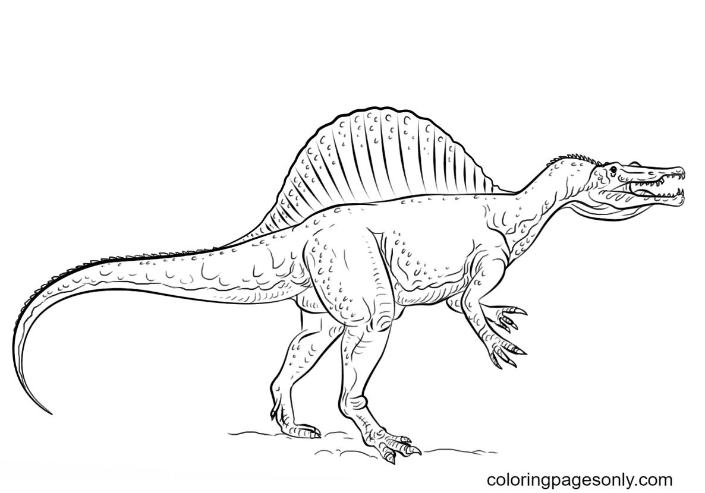 Jurassic World Spinosaurus Coloring Page