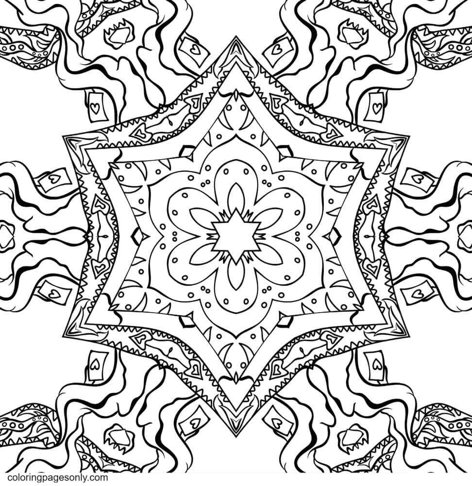 Kali in Wonderland 0 Coloring Page