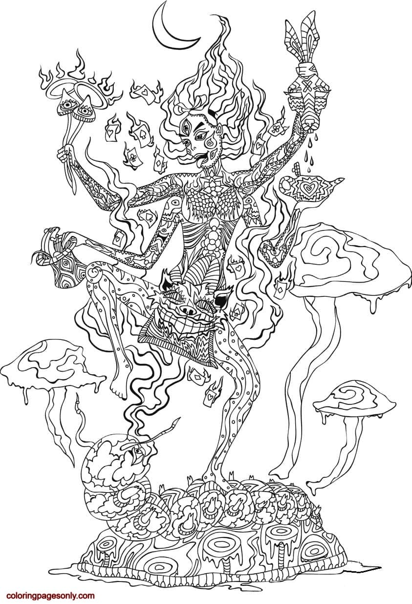 Kali in Wonderland 1 Coloring Page