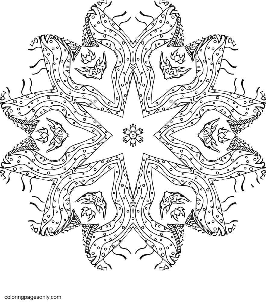 Kali in Wonderland 2 Coloring Page