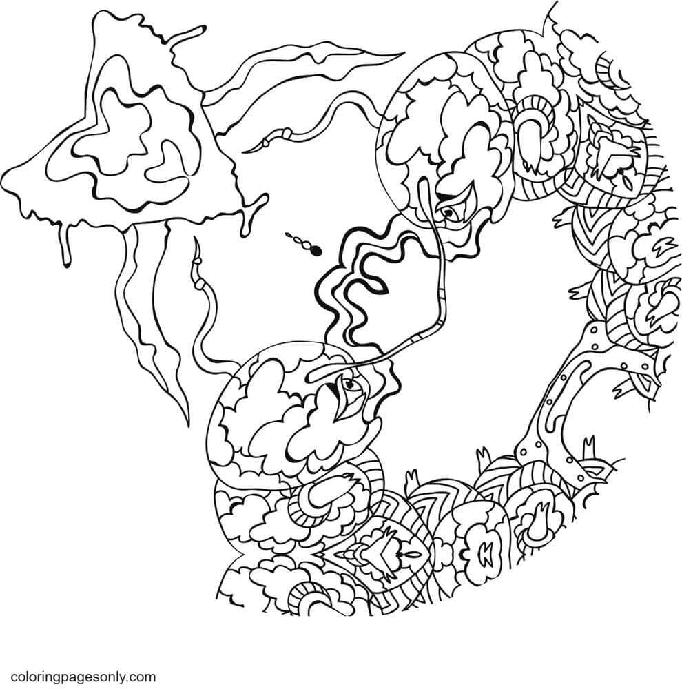 Kali in Wonderland 3 Coloring Page