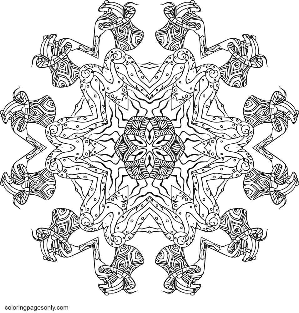 Kali in Wonderland 4 Coloring Page