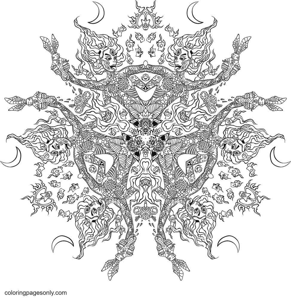 Kali in Wonderland 5 Coloring Page