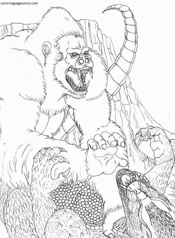 King Kong Vs Godzilla 1 Coloring Page