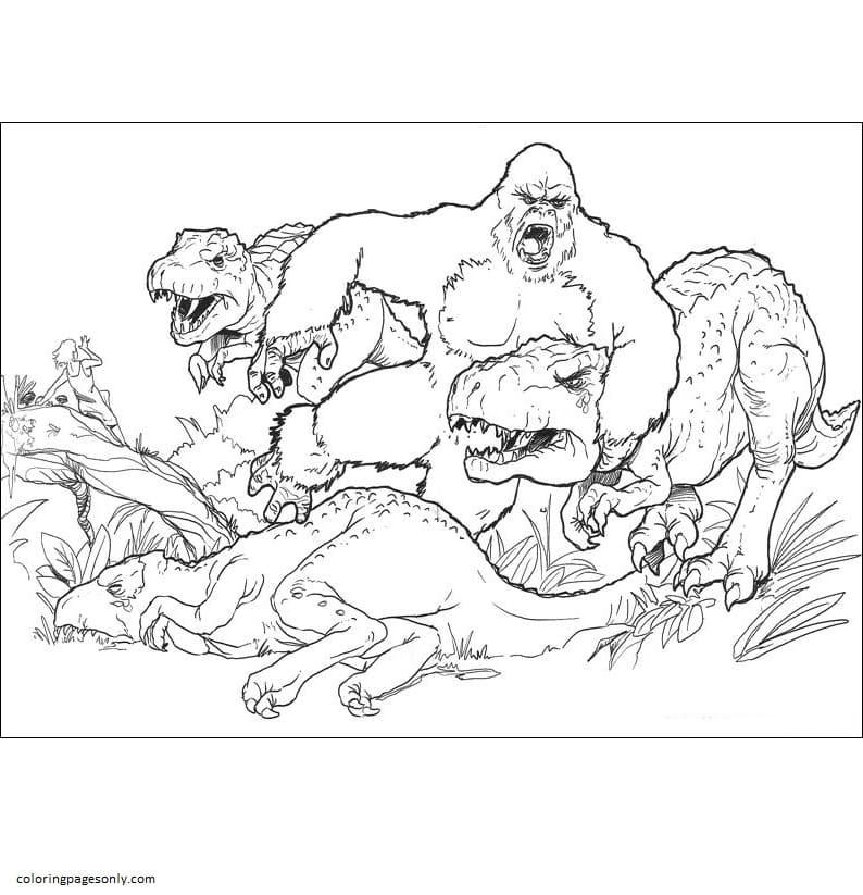 King Kong Vs Godzilla 4 Coloring Page