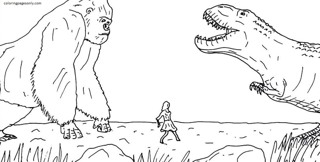 King Kong Vs Godzilla 5 Coloring Page
