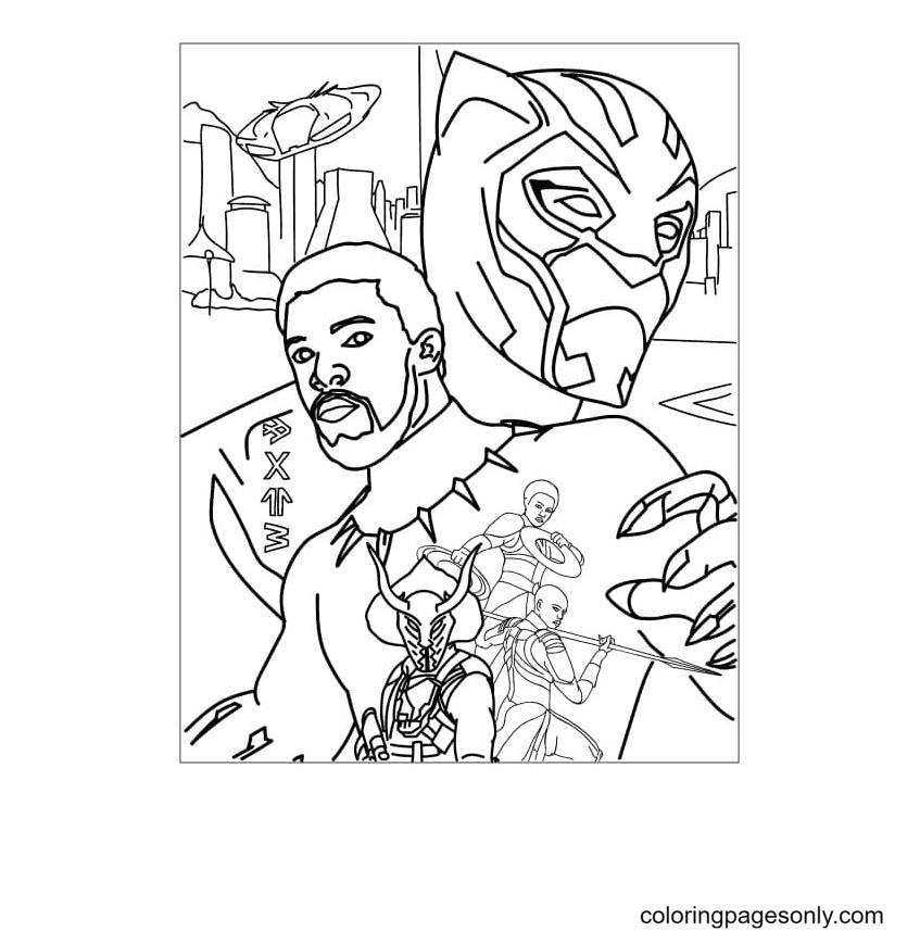 King of Wakanda Coloring Page