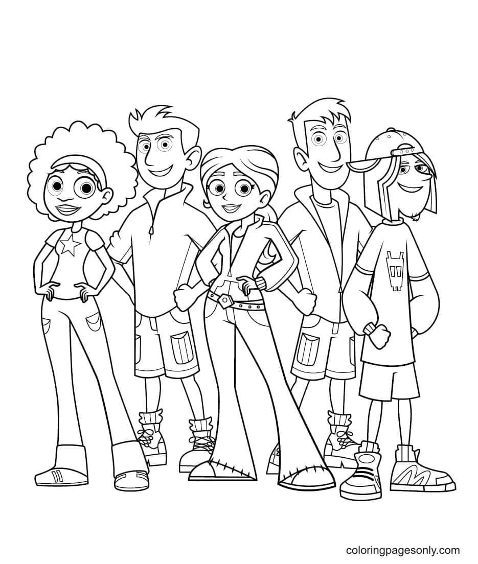 Koki, Chris, Aviva, Martin, and Jimmy Z Coloring Page