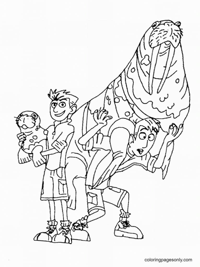 Kratt Brothers Coloring Page