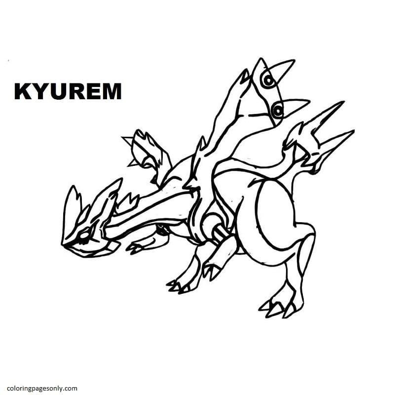 Kyurem 2 Coloring Page