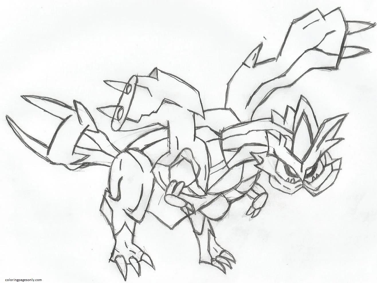Kyurem Pokemon 1 Coloring Page