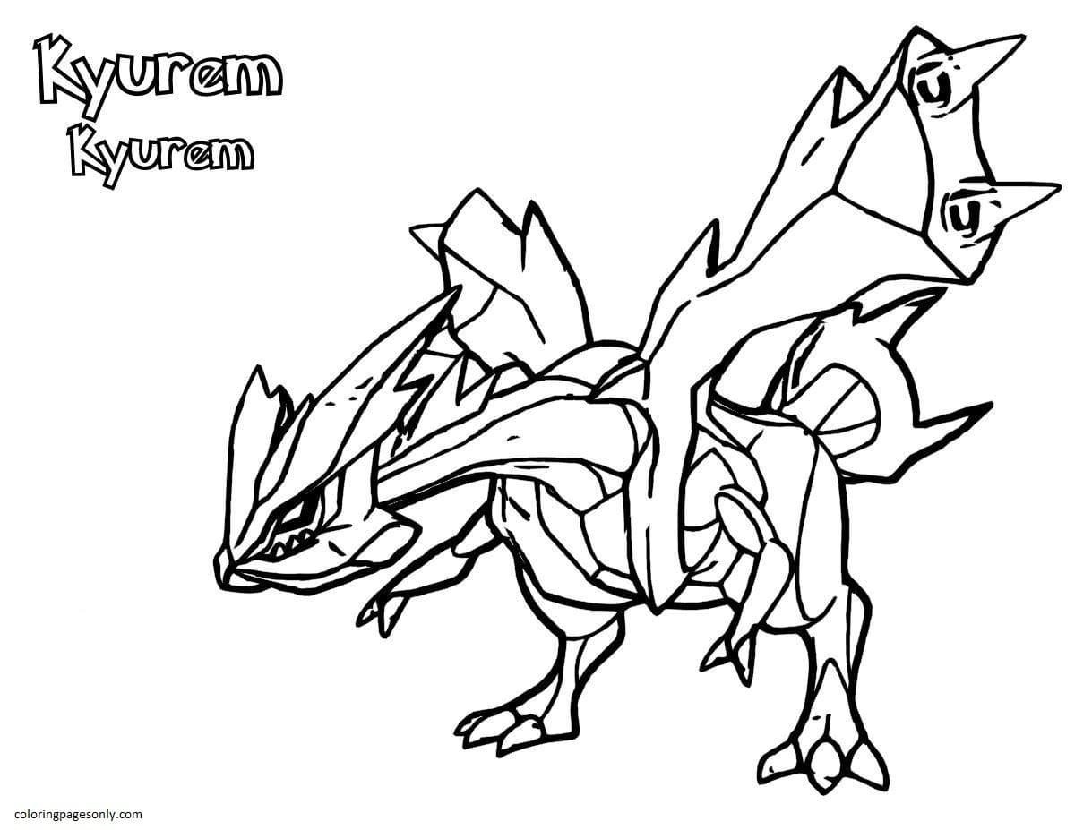 Kyurem Pokemon 2 Coloring Page